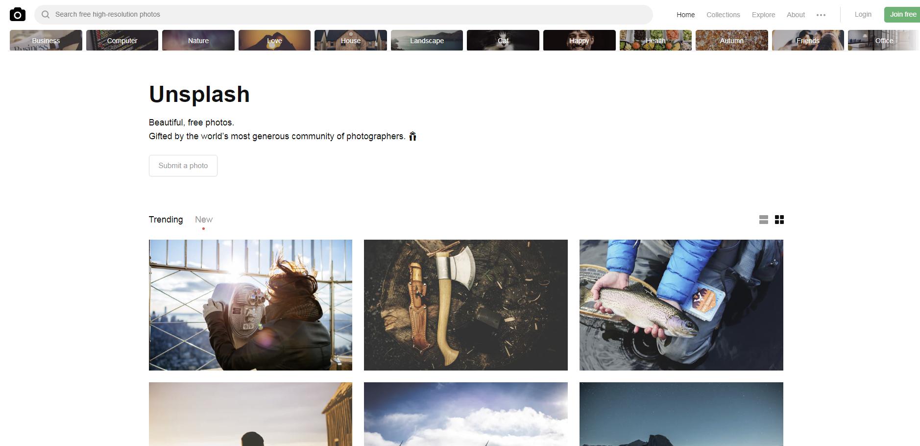 Unsplash, jogtiszta fotók, ingyenes fotók, jogtiszta képek, ingyenes képek